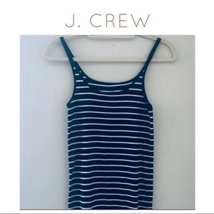 J. Crew Navy and White Striped Fitted Tee